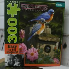 Bluebirds Hautman Brothers Collection 300 Large Piece Puzzle Garden Birdhouse