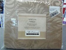 "Set of 2 Venetian Panels by McLeland Design w/ Tie Backs 42""x84"" Beige Jacquard"