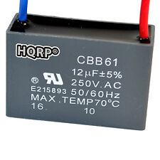 HQRP Capacitor de Motor para Harbor Breeze de Ventilador 12uf 2-Alambres / CBB61