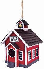 SPOONTIQUES 10177 SCHOOL HOUSE BIRDHOUSE