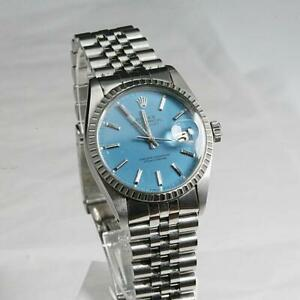 ROLEX OYSTER PERPETUAL DATEJUST 16030 QUICK SET ENGINE TURNED BEZEL, Cal 3035