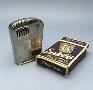 IMCO 4200 SAFETY VINTAGE PETROL LIGHTER Mechero Briquet Feuerzeug Accendino 点烟器