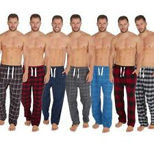 Mens Check Flannel Lounge Pants/Pyjama Bottoms 100% Brushed Cotton Size S-XL NEW