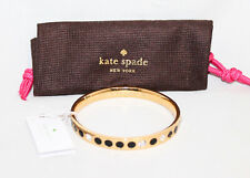 NWT $48 KATE SPADE Spot The Spade Gold Black Bangle Bracelet