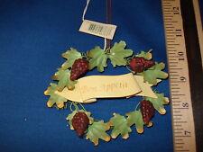 Wine Ornament Bon Appetite Grape Vine Wreath  46763  27