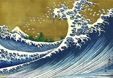 La gran ola de 100 puntos de vista del Monte Fiji Hokusai Japón 12x8 pulgadas impresión