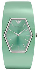 Emporio Armani AR7369 Teal Dial Teal Plastic Band Women's Watch