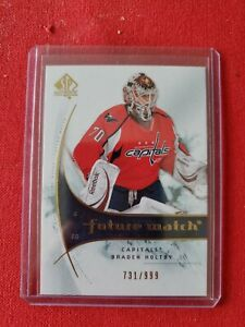 2009-10 Braden Holtby SP Authentic Future Watch rookie RC #/999 non-auto Canucks