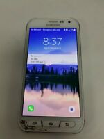 Samsung Galaxy s6 Active 32GB Camo Blue G890A (AT&T) Damaged See Detail VD8833