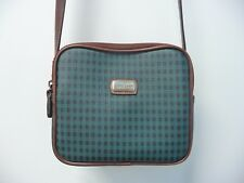 Carryland Crossbody Shoulder Bag Green & Brown Gingham Purse Handbag