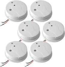 6-Pack Hardwired Smoke Alarm Detector Set Interconnected 120-Volt Battery Backup