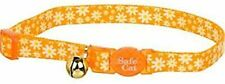 """Coastal Pet Daisy Yellow Breakaway Cat Collar 8-12"""" neck with bell safe safety"""