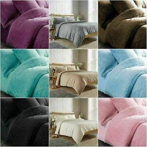 Teddy Bear Duvet Cover Set Pillowcase Warm Cuddly Super Soft All Sizes