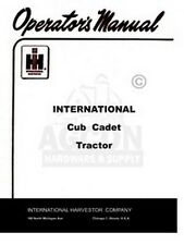 International Cub Cadet 1960-1963 Owner Operator Manual