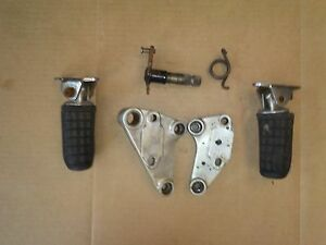 Genuine HONDA CX 500 TURBO Front Rider Foot Rests / Foot Pegs & Hangers : OU0672