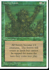 MAGIC THE GATHERING 4TH EDITION GREEN LIVING LANDS