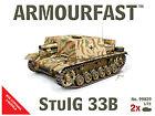 Armourfast 1/72 Allemand StuIG 33B Tank Kit Modélisme - Contient 2 Chars - 99029