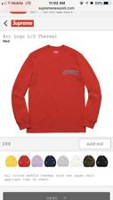 Supreme Arc Logo L/S Thermal Red Medium (With Stickers)