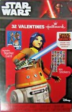 New Star Wars 32 Pack Valentine's Day Cards w/ Stickers and Teacher Card
