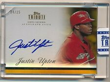 2012 Topps Tribute JUSTIN UPTON Autograph On-Card Auto #04/15 GOLD SSP