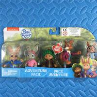 "Nickelodeon Peter Rabbit 5 Dolls Adventure Pack Multi Figure 3"" Nick Jr toy"