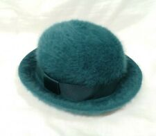 Vintage KANGOL Angora Made in England Cloche Bowler Rim Hat