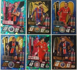 Topps UEFA Champions Match Attax 2020/21 LIMITED EDITION 100 CLUB Card SINGLES