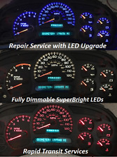 Chevrolet Trailblazer 2002-2006 Instrument Gauge Cluster Repair with LED upgrade
