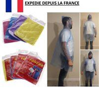 Manteau Pluie Poncho 182 cm Imperméable Vêtement Étanche Cape Tissu Homme Femme