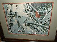 "GLENN ROBERTSON, KENTUCKY ARTIST, ""LATE SNOW"", L/E, DATED AND HAS RARE REMARQUE"