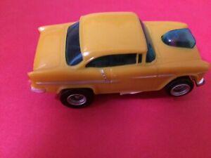 Aurora AFX Translucent Yellow '55 Chevy Bel-Air NICE ONE!!!