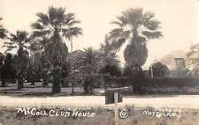 McAllen Texas? McColl Clubhouse Real Photo Antique Postcard J57564