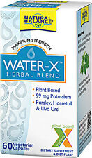 Natural Balance, Water-X, Herbal Blend, Maximum Strength, 60 Veggie Caps