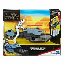 HASBRO STAR WARS GALAXY OF ADVENTURES FIRST ORDER DRIVER & TREADSPEEDER in stock