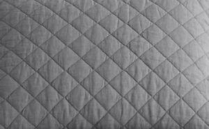 Pottery Barn Belgian Flax Linen Diamond Full/Queen F/Q Quilt ~ Flagstone Gray
