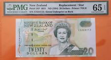 New Zealand $20 Replacement Note 1994 Queen P183 PMG Gem UNC 65 EPQ