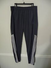 Adidas men's size Xl gray white green athletic warmup pants extra pants track