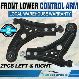 Pair Front Lower Control Arm + Bush & Ball Joint for Holden Barina TK 2005-2011