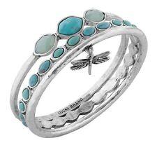 Lucky Brand Women's Turquoise Dragonfly Bangle Bracelet Set