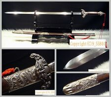 "100% Hand Forge Chinese Longquan Sword ""Chixiao Jian"" Pattern Steel Sharp Blade"