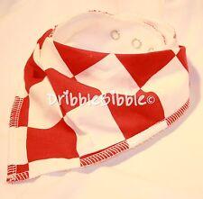 ❤ Baby Child Dribble Bib Catcher Dry Bandana Girl Boy Dog ❤ Red & White Check ❤