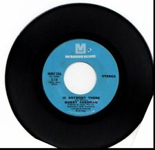 BOBBY SHERMAN IS ANYBODY THERE/CRIED LIKE A BABY 45RPM VINYL