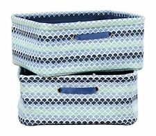 South Shore Storit Blue Nightstand Baskets with Scales Pattern, 2-Pack New