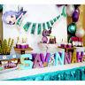 1Set Mermaid Banner Mermaid Happy Birthday Banner Baby Shower Party Supplies