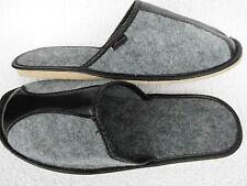 Fieltro zapatillas-zapatillas de casa, talla 45 fieltro, gris (21-01-1-86)