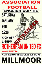 ROTHERHAM UNITED - VINTAGE 1920's STYLE MATCH POSTER