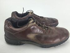 Footjoy Mens Golf Cleats 11.5 Brown Leather 54296 Soft Spikes Contour Series wow