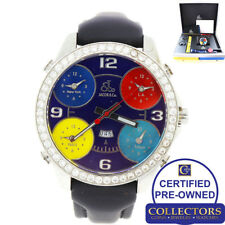 Jacob & Co. 5 Time Zone Steel 47mm 3.50ctw Diamond Multi Band Watch BoxPapers G8