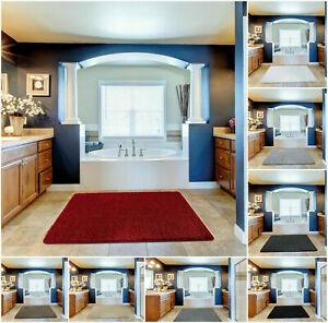 Non Slip New Soft Luxury Plain Floor Area Rugs Small Large Bedroom Runners