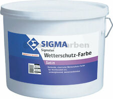 Sigma SIGMALAN Wetterschutzfarbe 2,5L weiß auf Hybridbasis mit Filmkonservierer